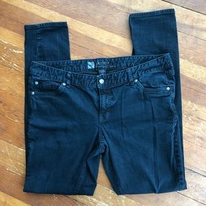 "Mossimo Black Skinny Jeans, size 16L, inseam 33"""